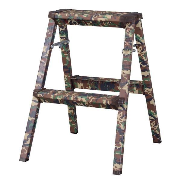 脚立 折りたたみ ステップ台 アルミ スツール 花台 迷彩柄 踏み台 昇降運動 2段 折り畳み 折り畳み踏み台 台 はしご 階段 引越し