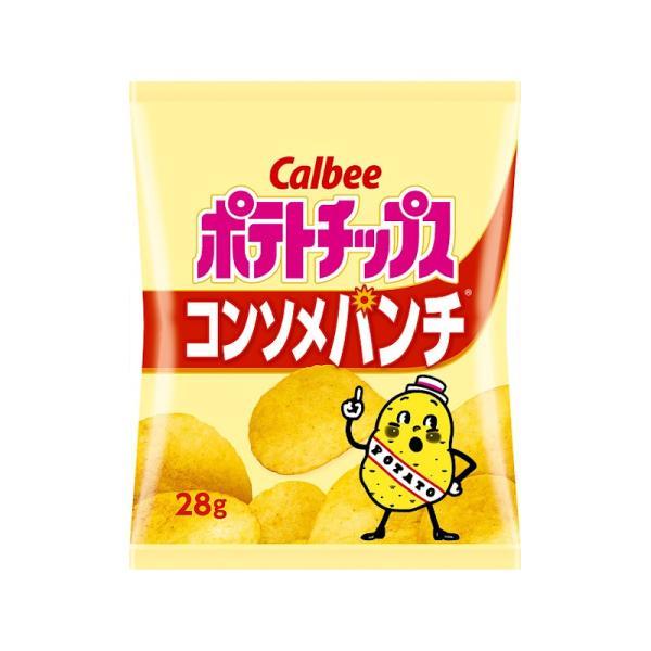カルビー ポテトチップス コンソメパンチ 28g x24 *