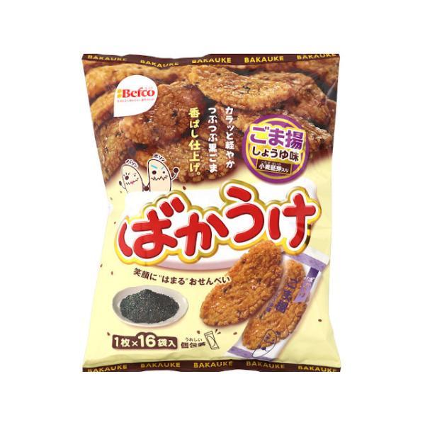 栗山米菓 16枚ばかうけ ごま揚 16枚 x12 *