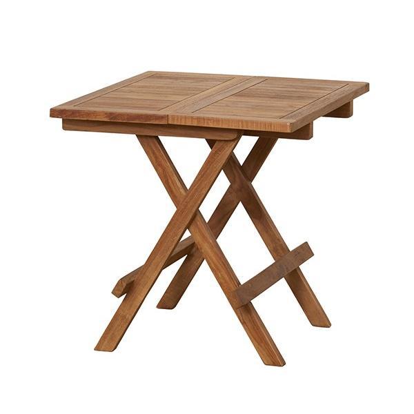 テーブル 折りたたみ式 チーク 折り畳み ガーデンテーブル ガーデンファニチャー 木製 カフェ風 テラス バルコニー