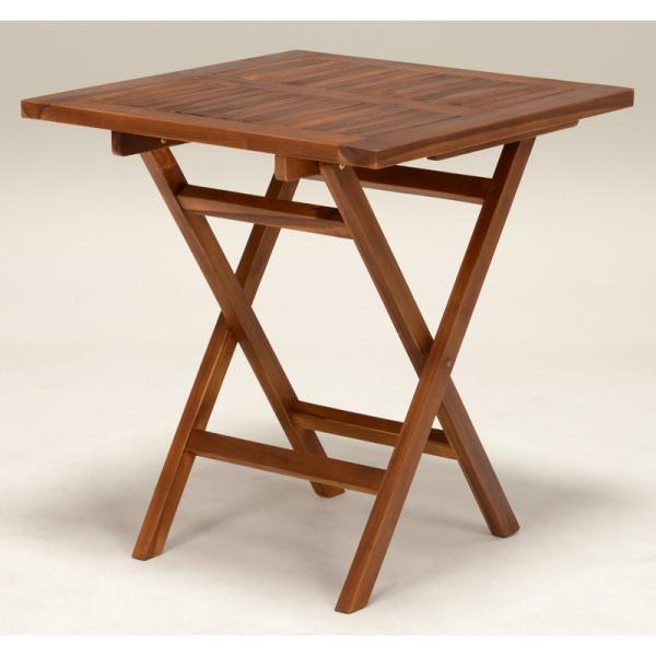 テーブル 正方形 70 チーク材 庭 テーブル バルコニー ベランダ テラス ウッドデッキ 庭 屋外 式 エクステリア ピクニックRT-1593TK