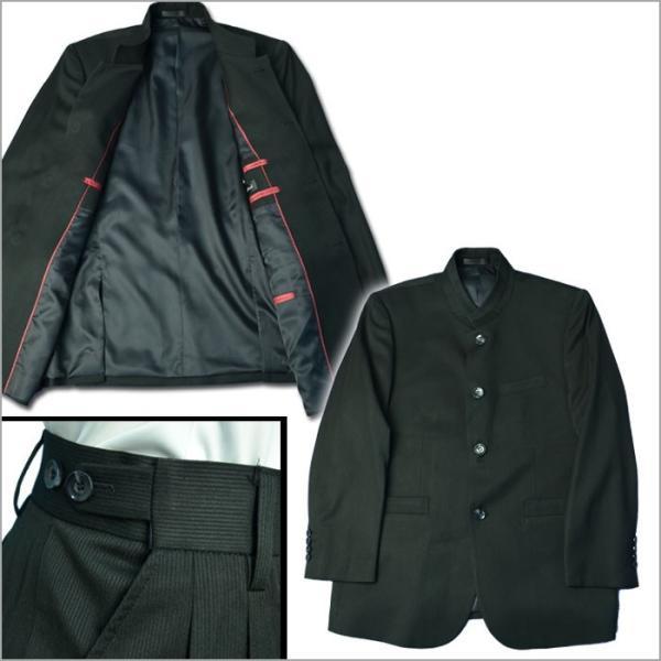 67817fd109e4b ... 秋冬 マオカラースーツ デザインスーツマオカラージャケット 個性派スタイル 黒ブラック ピケ シャドーストライプ
