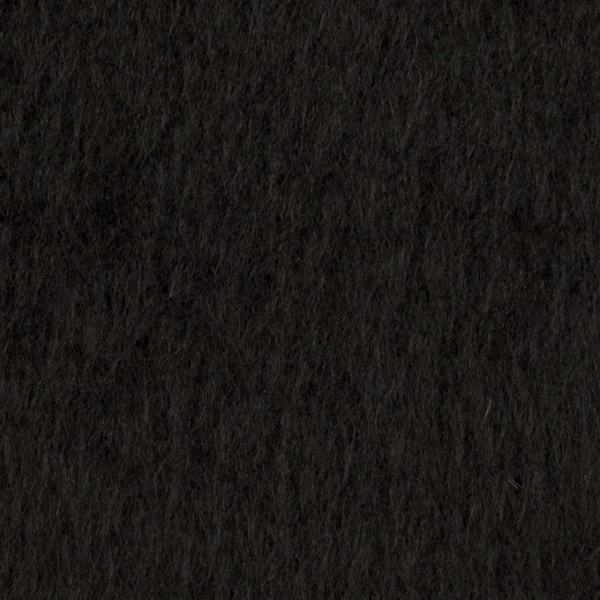 ポリエステル&アクリル混×無地(ブラック)×フリースニット_全3色_イタリア製