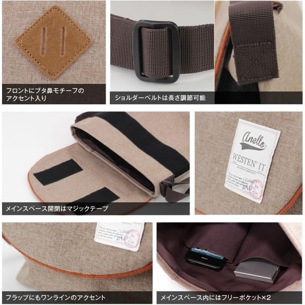 ネコポス送料無料 / メンズ メッセンジャーバック 小ぶりなキャンバスフラップミニメッセンジャーバッグ ショルダーバッグ anello AU-A0131|fabbrorosso|05