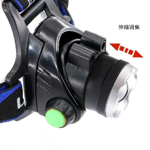 モーションセンサー内蔵充電式ヘッドライトHL-610・18650電池×2本付