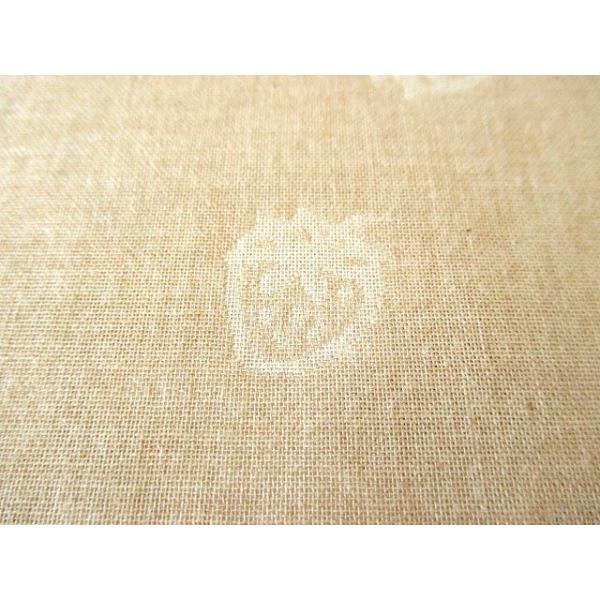 生地 50cm単位 オーガニックコットン ダブルガーゼ いちご柄 R-0529-J-6 ジャガード 布 RZT|fabrichouseiseki|02
