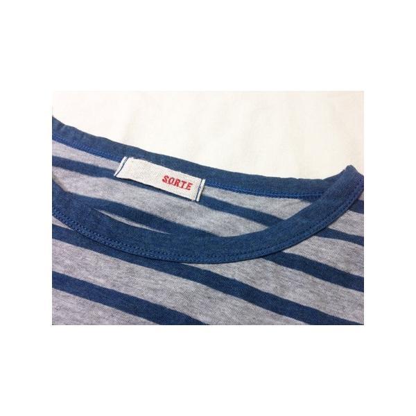 レディース チュニック ボーダー コットン 綿 Tシャツ ロング 丈 体型カバー 長袖 カットソー ゆったり 丈長 ロンT 日本製 SORTE ソルテ|factelier|08