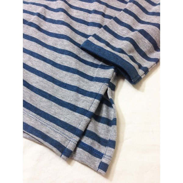 レディース チュニック ボーダー コットン 綿 Tシャツ ロング 丈 体型カバー 長袖 カットソー ゆったり 丈長 ロンT 日本製 SORTE ソルテ|factelier|09