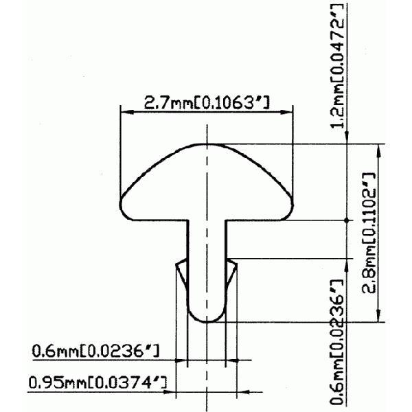 ギター&ベース用フレット(SL)/GF-SBB221 610mm/24inchカット×3本セット|factorhythm