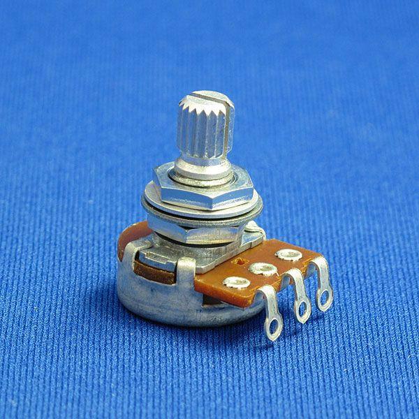 エレキギター&ベースパーツ ポテンショメータ/ポット/小径・短軸(外径16mm/軸長15mm) 250KΩ/500KΩ Aカーブ/Bカーブ|factorhythm