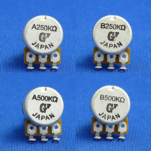 エレキギター&ベースパーツ ポテンショメータ/ポット/小径・短軸(外径16mm/軸長15mm) 250KΩ/500KΩ Aカーブ/Bカーブ|factorhythm|02