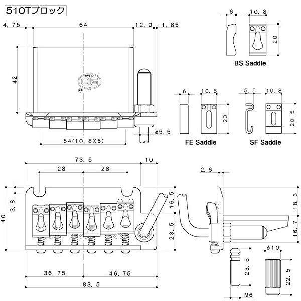 ゴトー【GOTOH】トレモロユニット 510T-BS1(ブラッククローム)|factorhythm|02