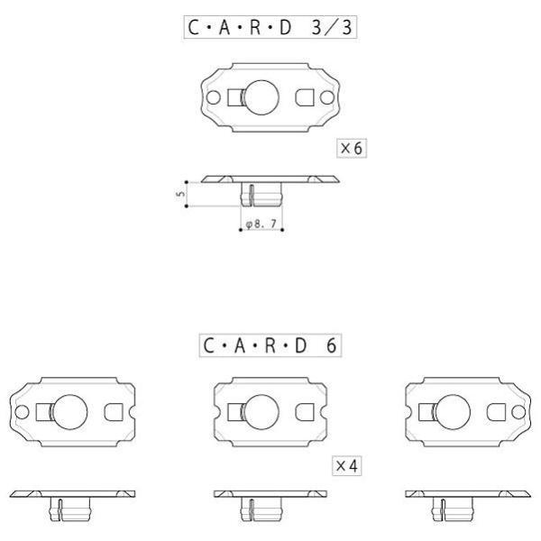 ゴトー【GOTOH】クルーソンペグSD91用オプションパーツC・A・R・D6|factorhythm|02