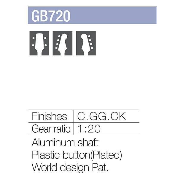 ゴトー【GOTOH】ベースペグ 6弦 GB720-6(ゴールド)|factorhythm|03