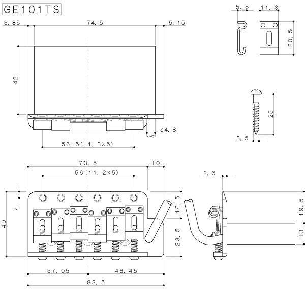 ゴトー【GOTOH】エイジド加工済「RELIC」トレモロユニットGE101TS|factorhythm|02