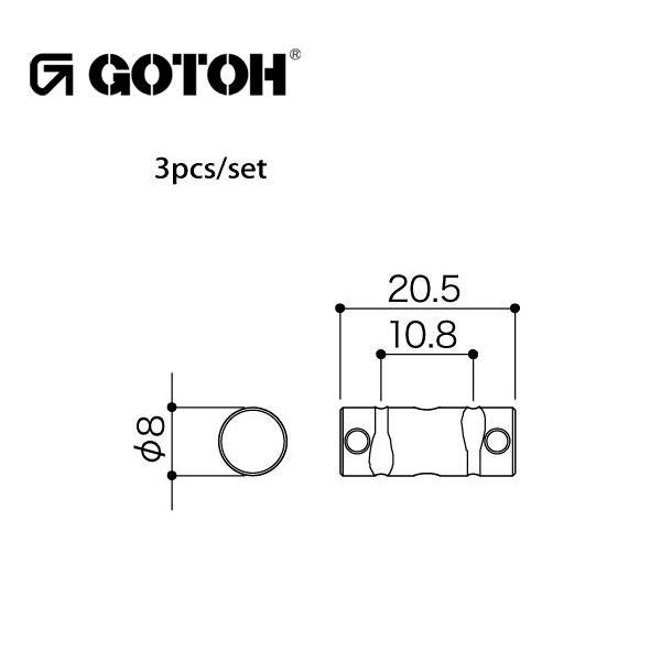 ゴトー【GOTOH】サドルセットInTuneTi(ソリッドチタニウム)|factorhythm|02