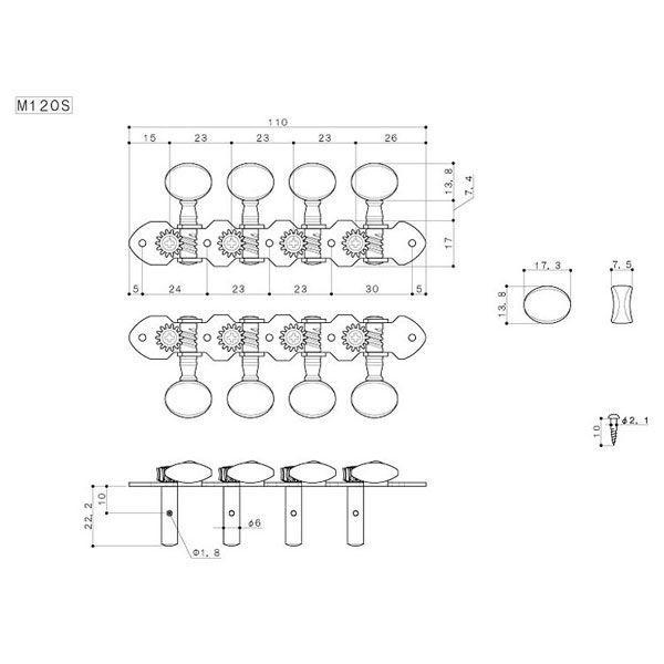 ゴトー【GOTOH】マンドリンペグ M120S(ニッケル)|factorhythm|02