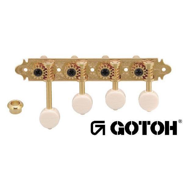 ゴトー【GOTOH】マンドリンペグ MF40R(ゴールド) ツマミ:MB/MM|factorhythm