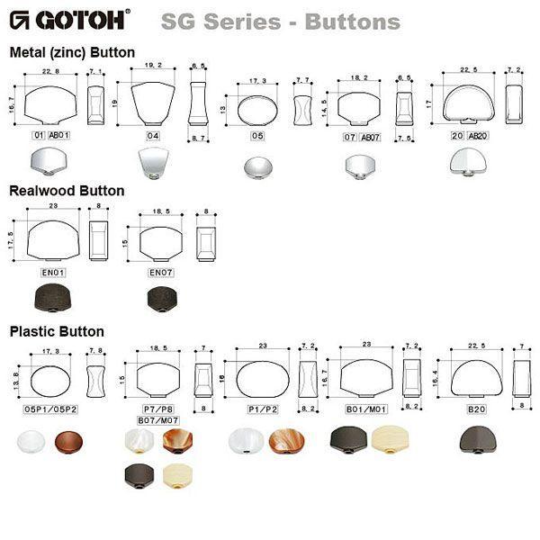 ゴトー【GOTOH】ギターペグ SG381-マグナムロックトラッド(ゴールド) ツマミ:AB01/AB20|factorhythm|04
