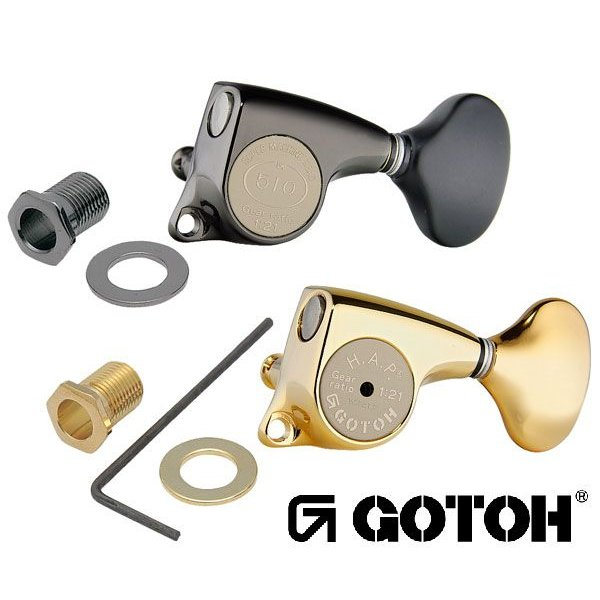 ゴトー【GOTOH】ギターペグ SGL510Z-スタンダード軸(コスモブラック) ツマミ:L5/S5|factorhythm