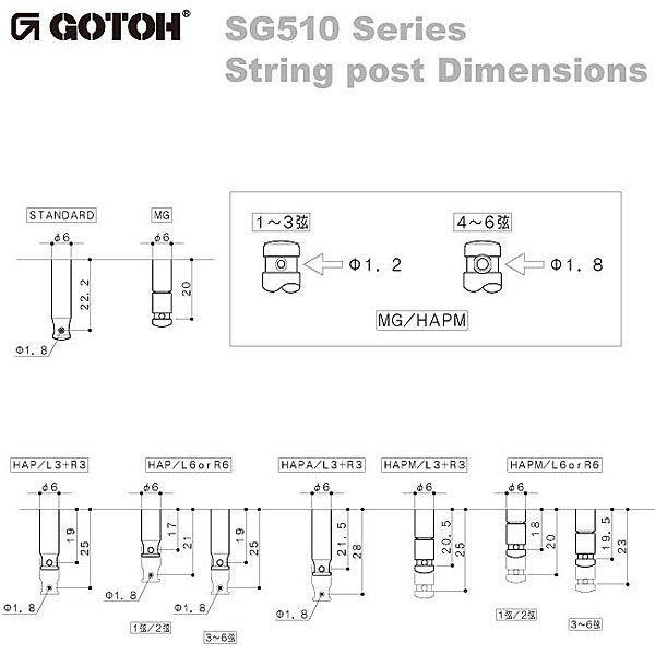 ゴトー【GOTOH】ギターペグ SGL510Z-HAP軸(ゴールド) ツマミ:ML5/BL5/BS5|factorhythm|03