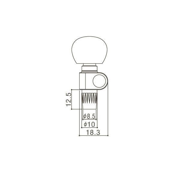 ゴトー【GOTOH】バンジョーペグ 5弦単品 SPBJ-5(クローム) ツマミ:AI factorhythm 02
