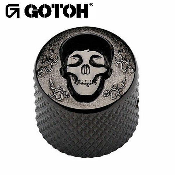 ゴトー【GOTOH】アートコレクション コントロールノブ(スカル)VK-Art-02(コスモブラック) factorhythm
