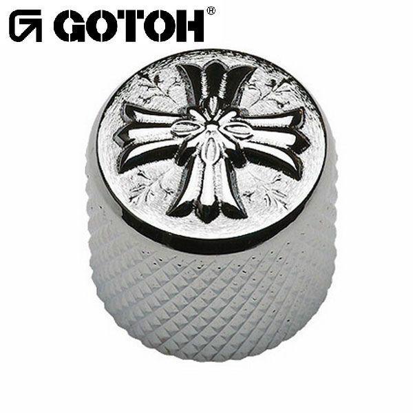 ゴトー【GOTOH】アートコレクション コントロールノブ(クロス)VK-Art-03(ブラッククローム) factorhythm