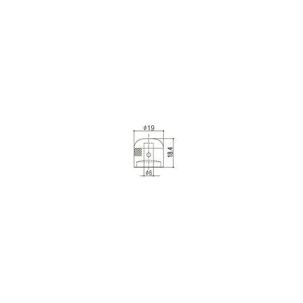ゴトー【GOTOH】アートコレクション コントロールノブ(クロス)VK-Art-03(ブラッククローム) factorhythm 02