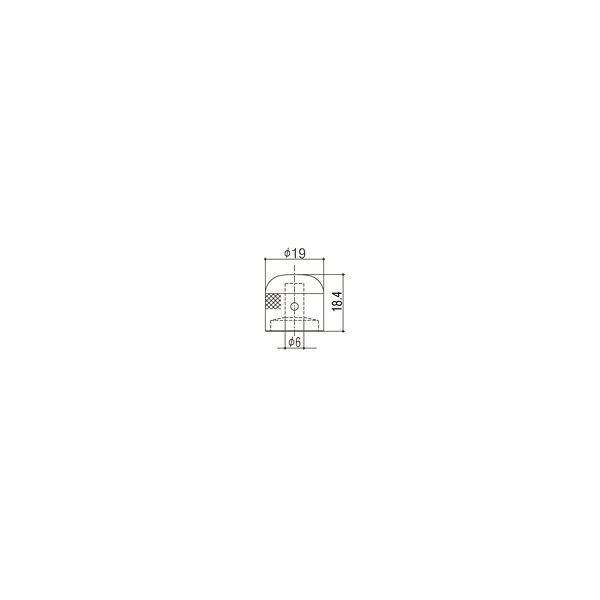 ゴトー【GOTOH】アートコレクション コントロールノブ(クロス)VK-Art-03(ゴールド)|factorhythm|02
