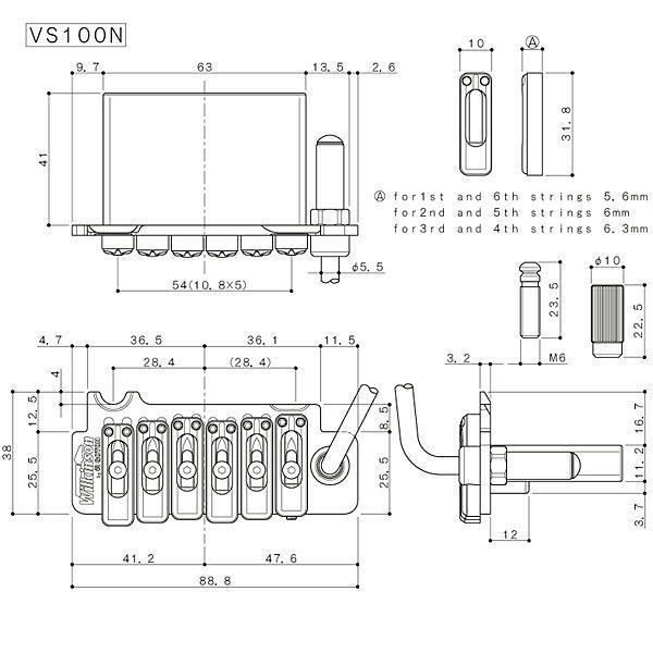 ウィルキンソン【WILKINSON】トレモロユニットVS100N(ホーンドクローム)|factorhythm|02