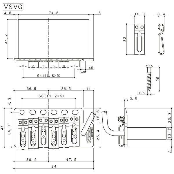 ウィルキンソン【WILKINSON】トレモロユニットVSVG(ゴールド) factorhythm 02