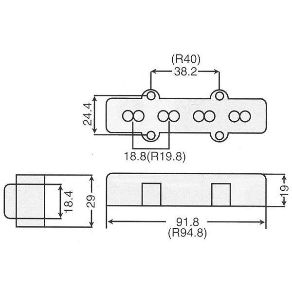 Wilkinson Jベースピックアップ/WBJ-B リア (ブラックカバー) factorhythm 03