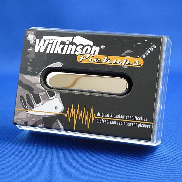 Wilkinsonシングルコイルギターピックアップテレキャスター/WT-Nフロント(ニッケルシルバーカバー)