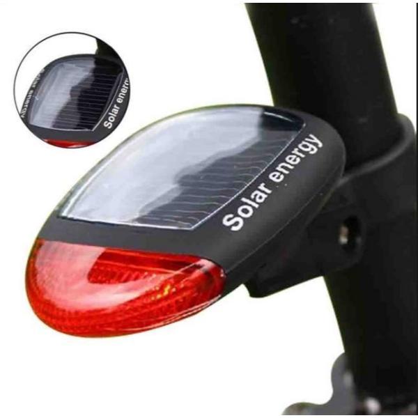 オープン記念セール コンパクトでソーラー発電式 LED自転車テールライト ソーラー 自転車ライト テールランプ 自転車LEDライト 自転車バックライト|factshop|04