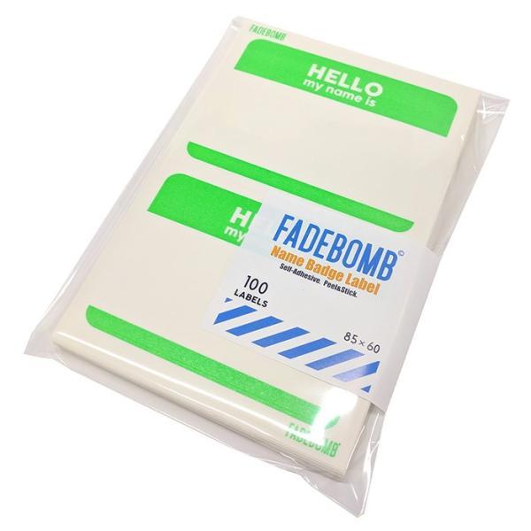 単色100枚セット fadebomb printable name badge label hello my name