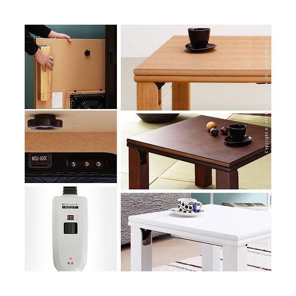 こたつテーブル 正方形 日本製 こたつ布団 セット 楢天然木折れ脚こたつ ローリエ 80×80cm