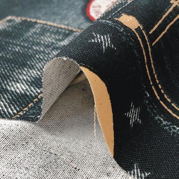 ヘビーオックス 生地 デニム風 パッチワーク風 ワッペンプリント 綿100% 布 手芸|fairy-lace|04