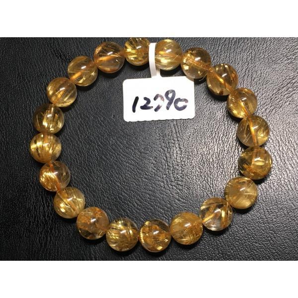 天然石 高品質 ルチルクォーツ 10.5〜10.9ミリ ブレスレット NO.12790