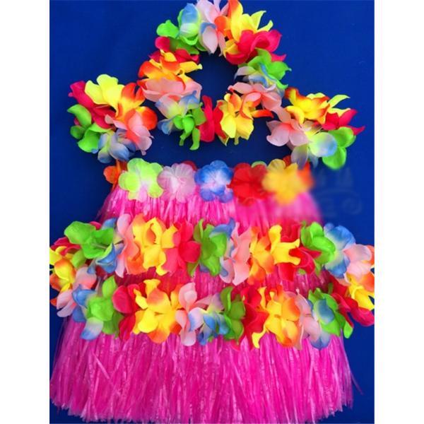フラダンス衣装 コスプレ コスチューム ハワイ 子供用 可愛い 派手色 男女兼用 演出服 仮装  ハロウィン|fairydust