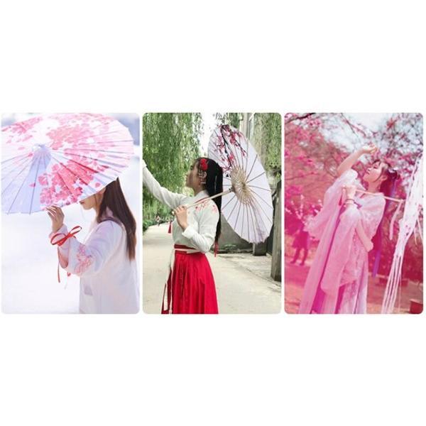 セール中! 大人気傘 レディース 和傘 番傘 紙傘 舞踊傘 唐傘 和装 和風 長傘 出かけ 演出 飾り コスプレ|fairydust|18