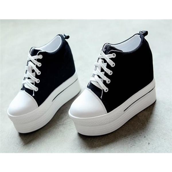 厚底 スニーカー 厚底シューズ 厚底スニーカー レディース 厚底靴 黒 足長 ハイカット 可愛い 疲れない スニーカー 歩きやすい 靴