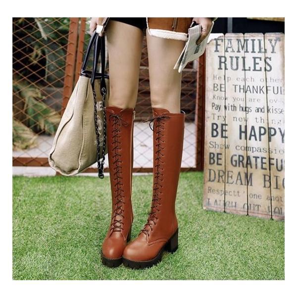 ロングブーツ コスプレ 靴 道具 コスチューム 仮装 イベント パーティー 厚底ブーツ