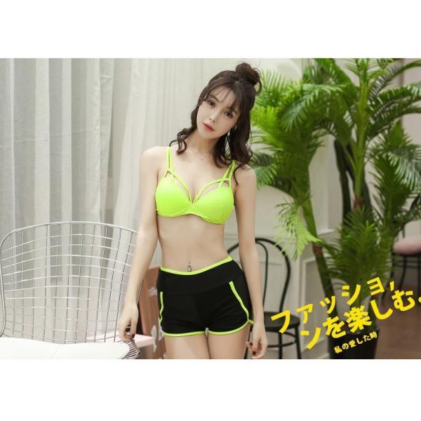 水着 体型カバー タンキニ ビキニ 3点セット水着 レディース  韓国風 セクシー ファッション 水着 可愛い スイムウェア セパレート 紫外線カット 水泳 女性用|fairyhouse0000|19