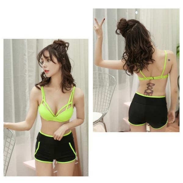 水着 体型カバー タンキニ ビキニ 3点セット水着 レディース  韓国風 セクシー ファッション 水着 可愛い スイムウェア セパレート 紫外線カット 水泳 女性用|fairyhouse0000|20