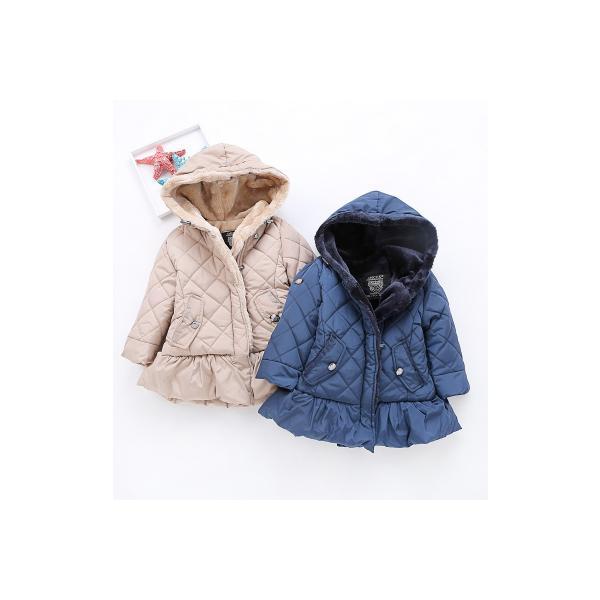 8a6ae45f58a55 ... 子供服コート 女の子 中綿ジャケット キルティング 韓国子供 裏ボア 防寒 ジャケット アウター ファーコート ...