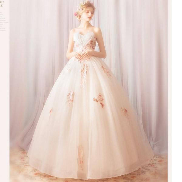 ウェディングドレス エンパイア  二次会ドレス シンプルエンパイアドレス ウェディングドレス・二次会ドレス 花嫁ドレス【スワニーエンパイアドレス】|fairyhouse0000