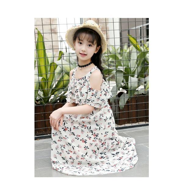4b73065a942ed ... 韓国 子供服 女の子 ワンピースドレス 子供ワンピース ワンピース マキシ丈 ロング 超可愛い キッズ 花 ...