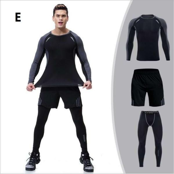 夏用メンズ ランパン ランショーツ 上下セット2/3点 吸汗速乾半袖Tシャツ ジムトレーニングウェア ランニングウェア ジョギング 男性用 マラソン スポーツウエア|fairyhouse0000|05