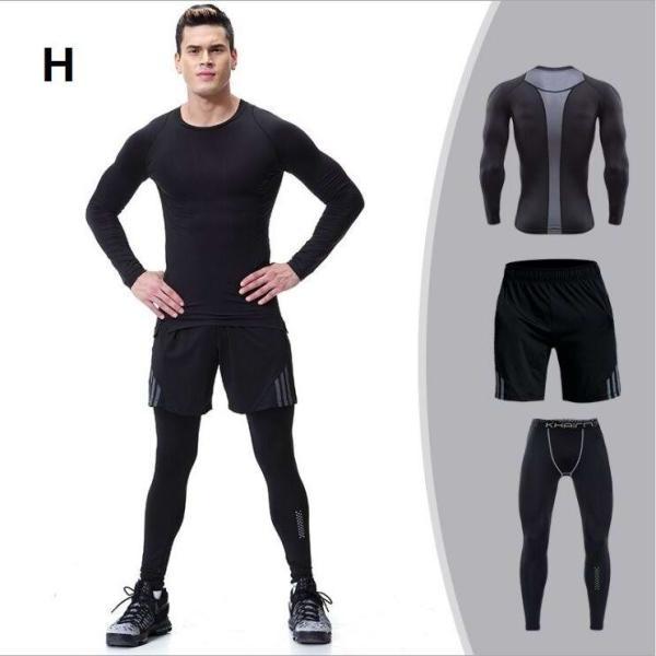 夏用メンズ ランパン ランショーツ 上下セット2/3点 吸汗速乾半袖Tシャツ ジムトレーニングウェア ランニングウェア ジョギング 男性用 マラソン スポーツウエア|fairyhouse0000|08